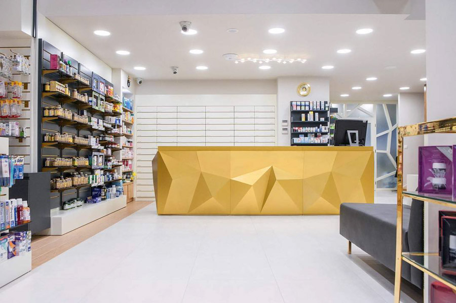 Luxury pharmacy in Rhodes island. INTERIOR   ARTICO MODO   Exclusive Interior Design and Furnishing